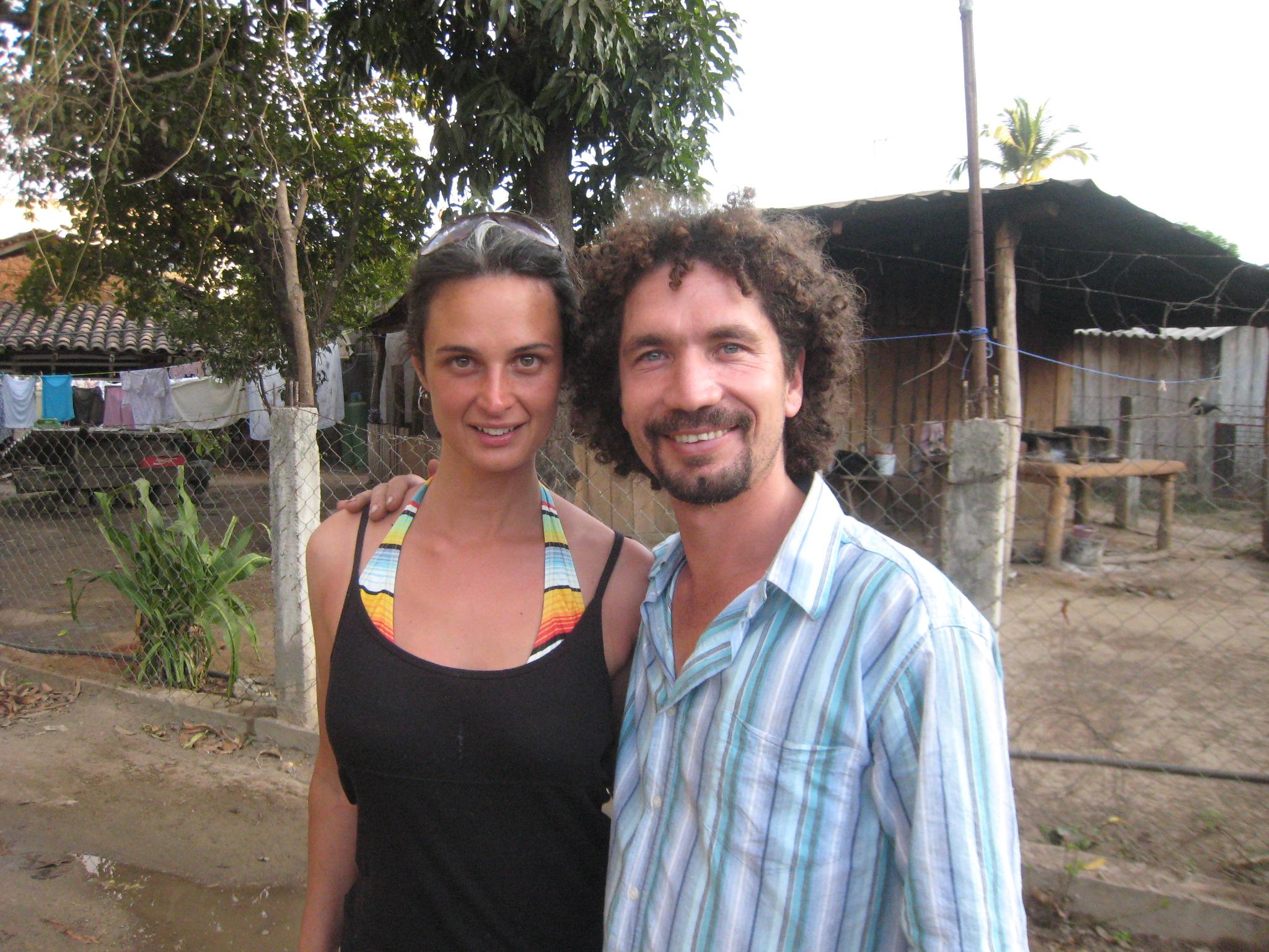Julia with Odin at Playa Viva