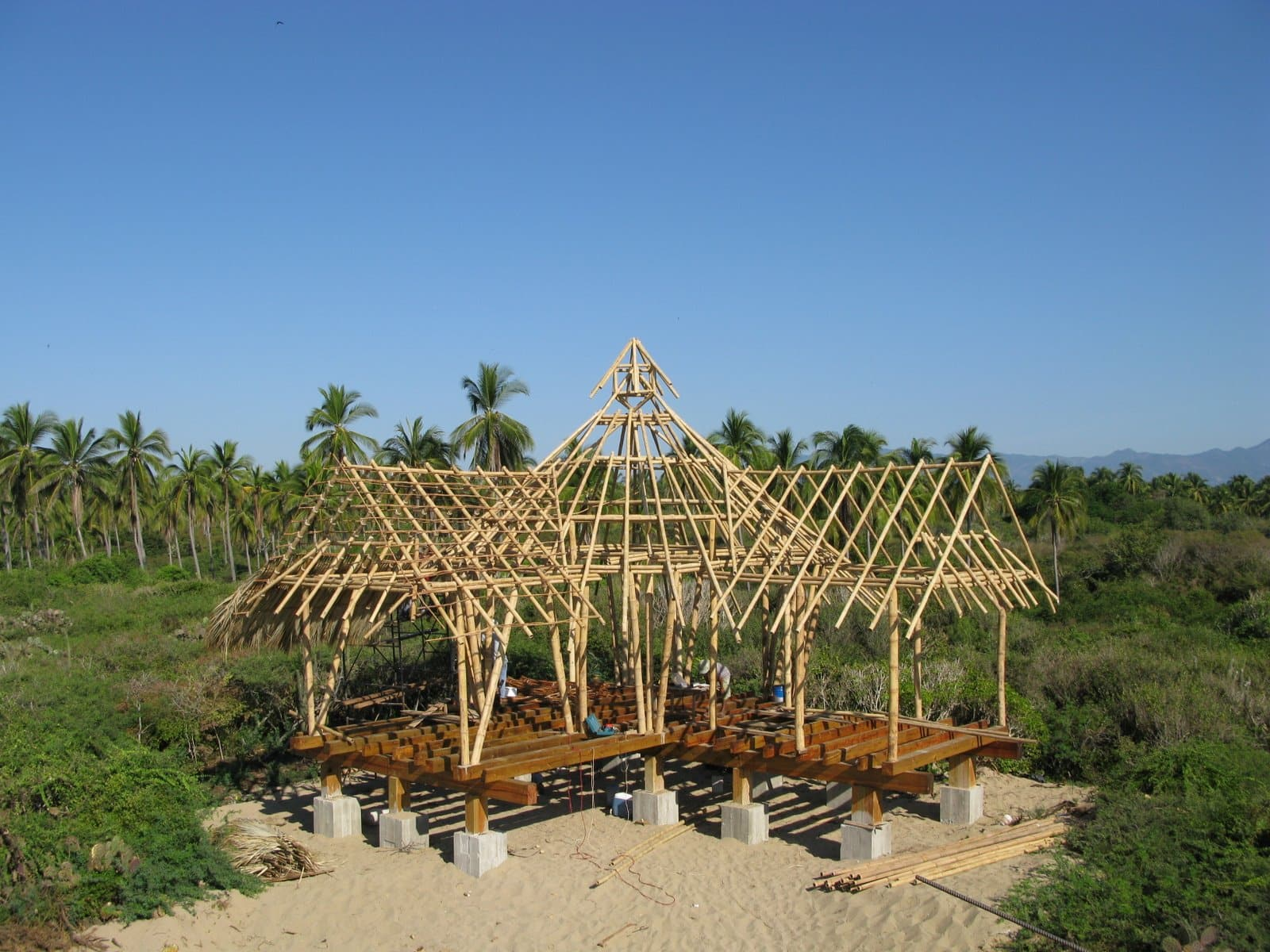 one-bedroom casita bamboo frame finished