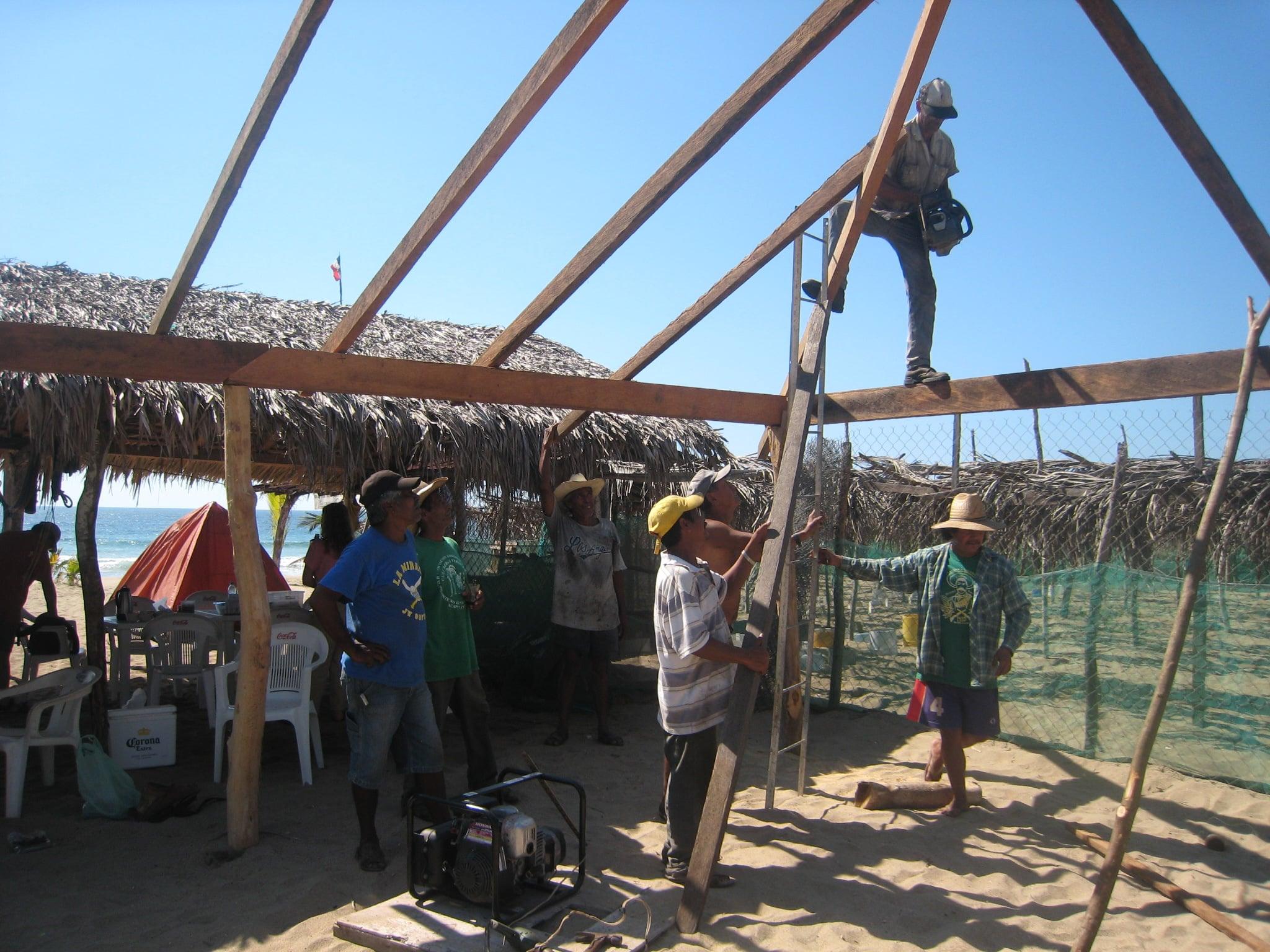 Mexican Version of a Barn Raising
